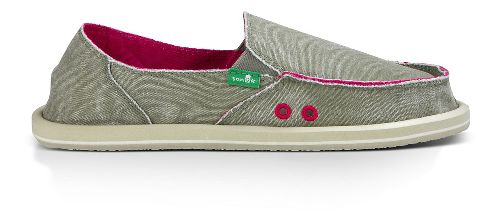 Womens Sanuk Donna Distressed Casual Shoe - Grey Olive 9