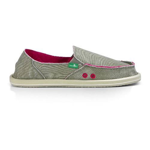 Womens Sanuk Donna Distressed Casual Shoe - Grey Olive 10