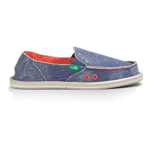 Womens Sanuk Donna Distressed Casual Shoe - Slate Blue 7
