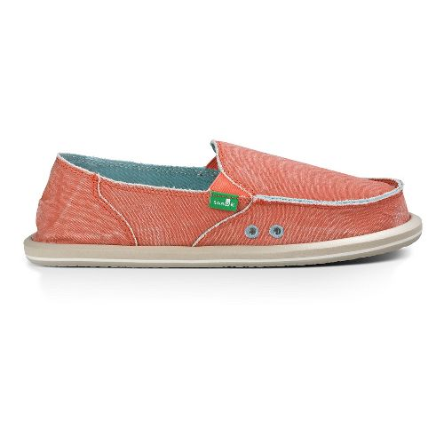 Womens Sanuk Donna Distressed Casual Shoe - Spiced Coral 8