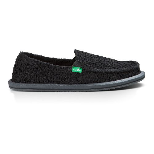 Womens Sanuk Donna Knit Stitch Casual Shoe - Black 5