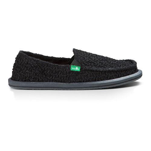 Womens Sanuk Donna Knit Stitch Casual Shoe - Black 6