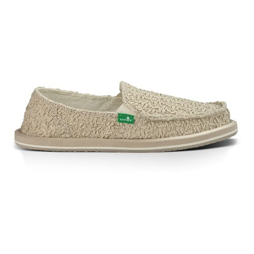 Womens Sanuk Donna Knit Stitch Casual Shoe - Natural 10