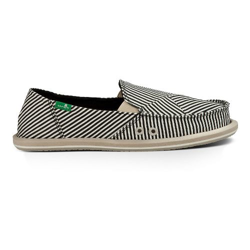 Womens Sanuk Donna Polo Casual Shoe - Black/Natural 6