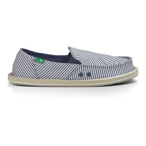 Womens Sanuk Donna Polo Casual Shoe - Slate Blue/White 10