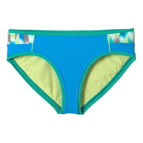 Womens Prana Milou Bottom Swim - Cool Green Ikat L