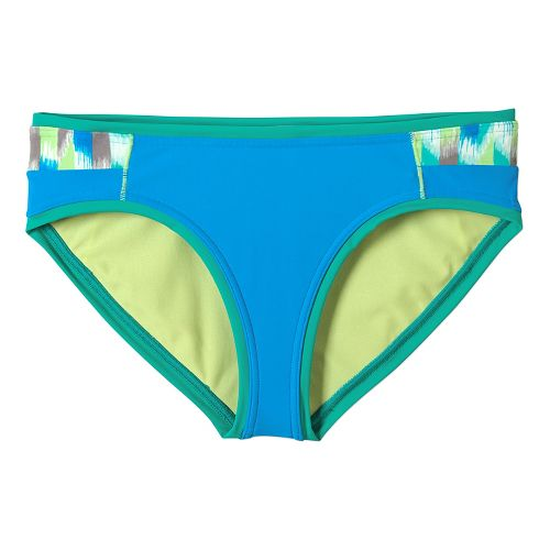 Womens Prana Milou Bottom Swim - Cool Green Ikat S