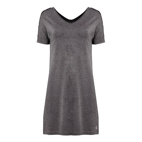Womens Tasc Performance Market Dresses - Black/Heather M