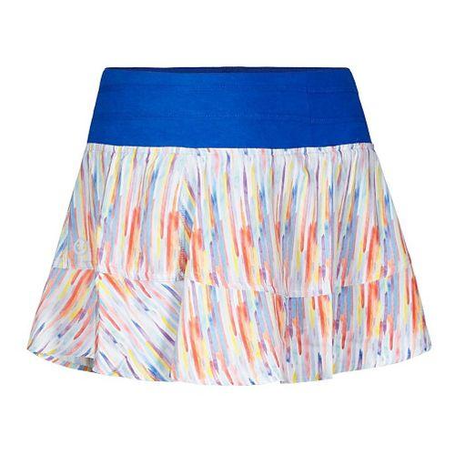 Womens Tasc Performance Rhythm Print Fitness Skirts - Rainbow Rain L