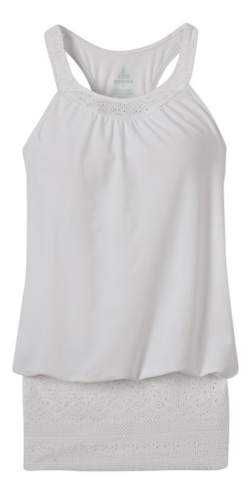 Womens Prana Ani Top Swim - White XL