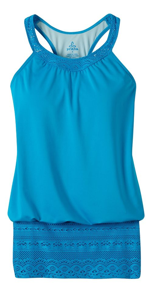 Womens Prana Ani Top Swim - Vivid Blue S