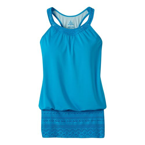 Womens Prana Ani Top Swim - Vivid Blue L