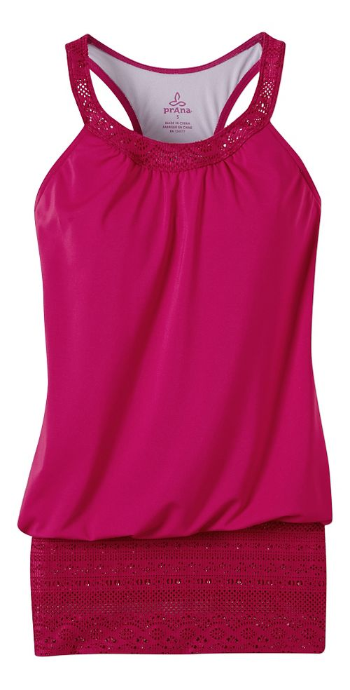 Womens Prana Ani Top Swim - Rich Fuchsia L