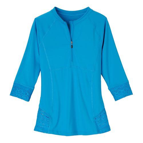 Womens Prana Brigitte Sun Top Swim - Vivid Blue L