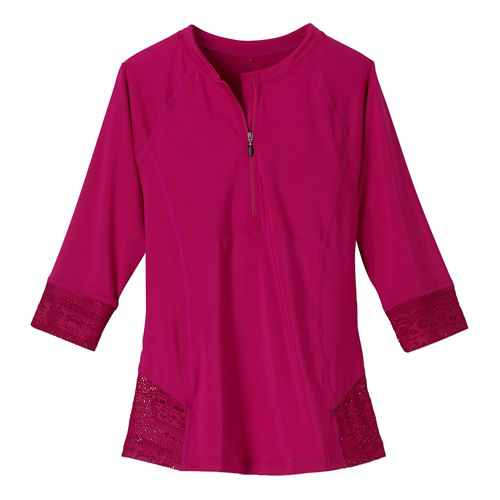 Womens Prana Brigitte Sun Top Swim - Rich Fuchsia M