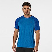 Mens Road Runner Sports Base Runner Short Sleeve Technical Tops - Pilot Blue/Cobalt S