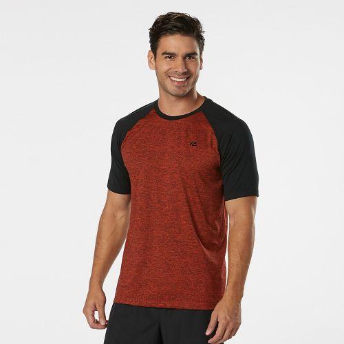 Mens Road Runner Sports Base Runner Short Sleeve Technical Tops - Blaze/Black XL