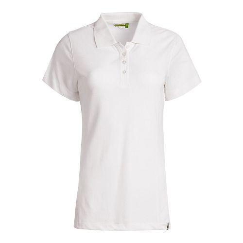 Womens Tasc Performance St. Charles Pique Polo Short Sleeve Technical Tops - White L
