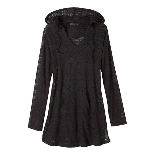 Womens Prana Luiza Tunic Hoodie & Sweatshirts Technical Tops - Black XL