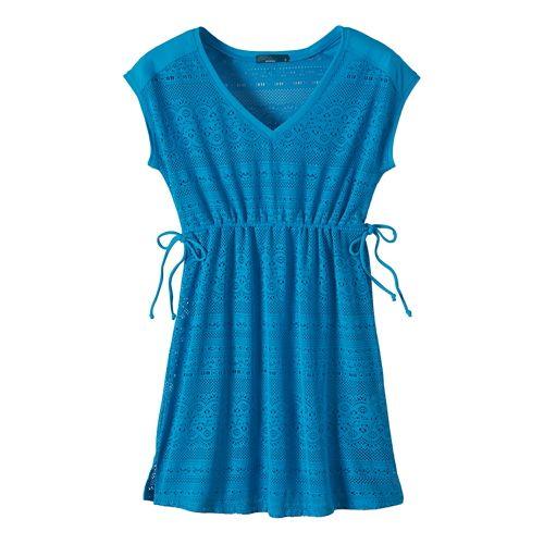 Womens Prana Elliot Dresses - Vivid Blue L