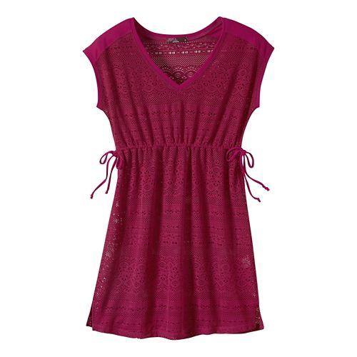 Womens Prana Elliot Dresses - Rich Fuchsia S