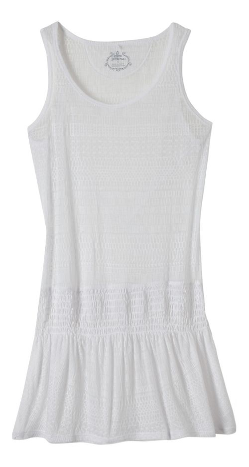 Womens Prana Zadie Dresses - White M
