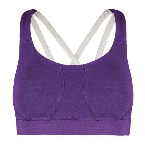 Womens Tasc Performance Ta-Ta For Now Studio Sports Bra Bras - Plumberry/Heather S