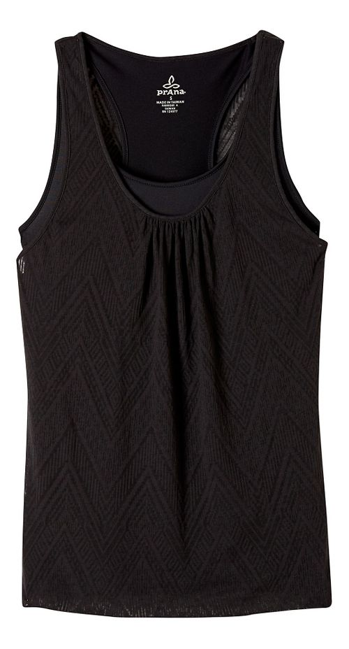 Womens prAna Mika Sleeveless & Tank Tops Technical Tops - Black XL