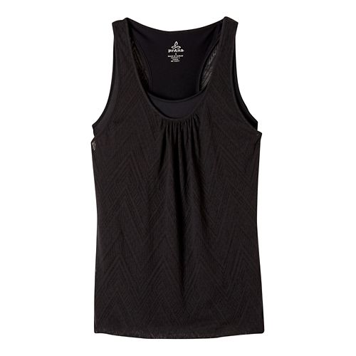 Womens prAna Mika Sleeveless & Tank Tops Technical Tops - Black M