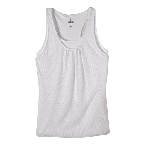 Womens prAna Mika Sleeveless & Tank Tops Technical Tops - White L