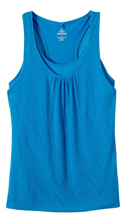 Womens prAna Mika Sleeveless & Tank Tops Technical Tops - Electro Blue M