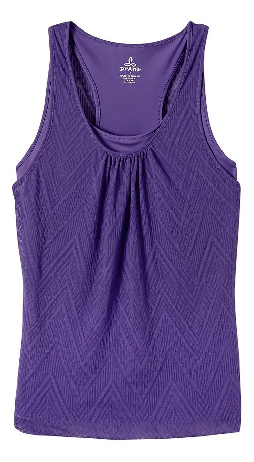 Womens prAna Mika Sleeveless & Tank Tops Technical Tops - Ultra Violet XS