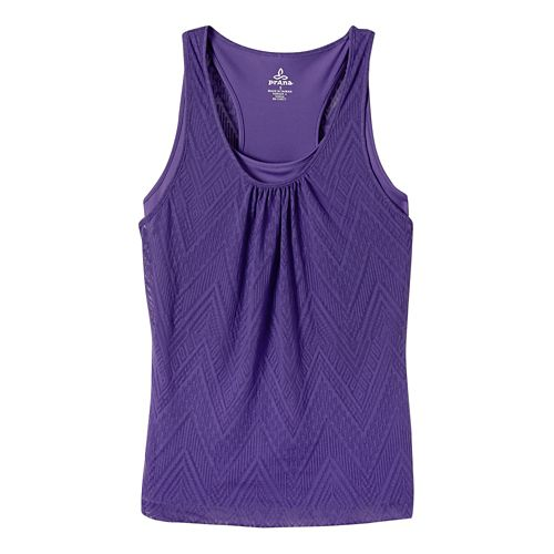 Womens prAna Mika Sleeveless & Tank Tops Technical Tops - Ultra Violet S