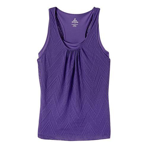 Womens prAna Mika Sleeveless & Tank Tops Technical Tops - Ultra Violet S
