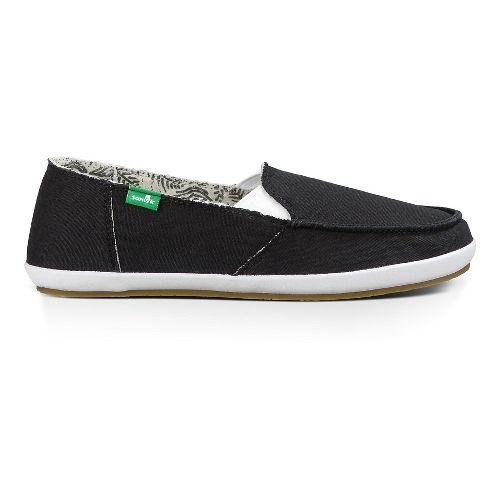 Womens Sanuk Overboard Casual Shoe - Black 8