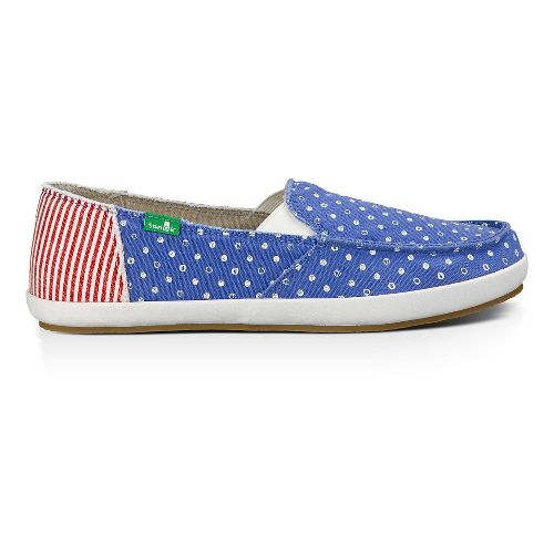Womens Sanuk Overboard Patriot Casual Shoe - America Dots/Stripes 8