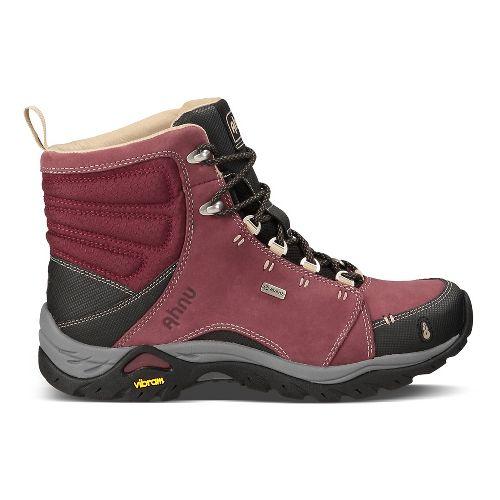 Womens Ahnu Montara Boot Waterproof Hiking Shoe - Red Mahogany 8