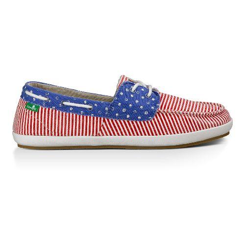Womens Sanuk Sailaway 2 Patriot Casual Shoe - America Dots/Stripes 10