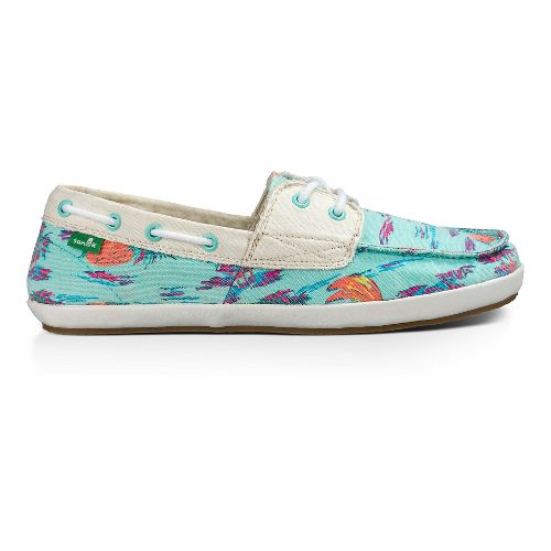 Womens Sanuk Sailaway 2 Vacay Casual Shoe - Turquoise Pineapple 7