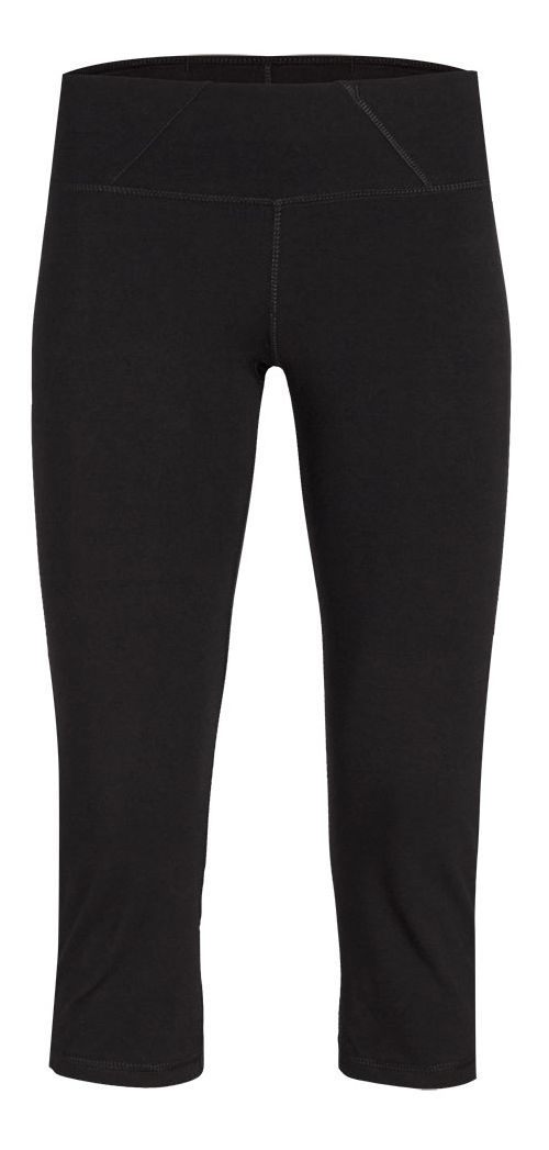 Womens Tasc Performance WOW 2 Fitted Capris Pants - Black XS