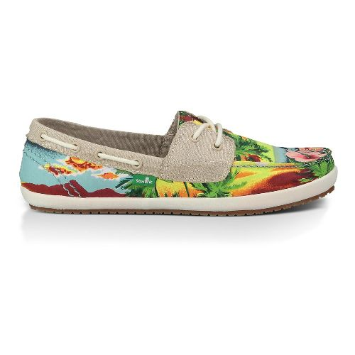 Womens Sanuk Tropical Sailaway 2 Casual Shoe - Blue Hawaiian 7