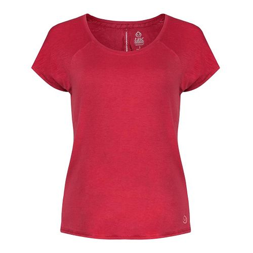 Womens Tasc Performance Zydeco T Short Sleeve Technical Tops - Red Hot XS