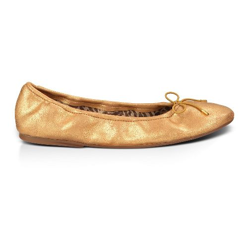 Womens Sanuk Yoga Ballet Casual Shoe - Gold 9