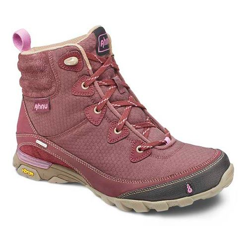 Womens Ahnu Sugarpine Boot Hiking Shoe - Dark Burgundy 10.5