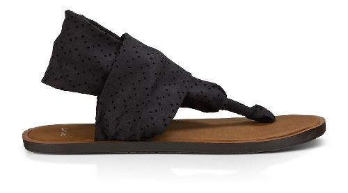 Womens Sanuk Yoga Devine Sandals Shoe - Black 8