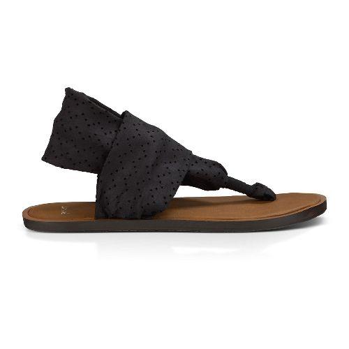 Womens Sanuk Yoga Devine Sandals Shoe - Black 8