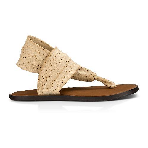 Womens Sanuk Yoga Devine Sandals Shoe - Light Khaki 9