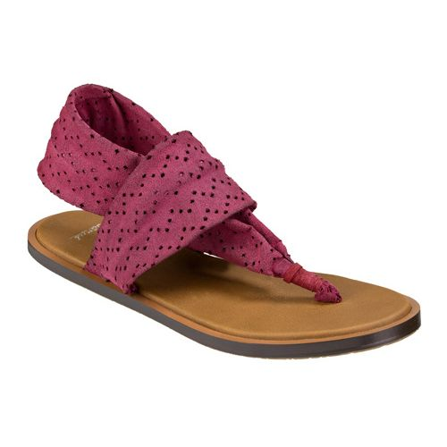 Womens Sanuk Yoga Devine Sandals Shoe - Dusty Boysenberry 5