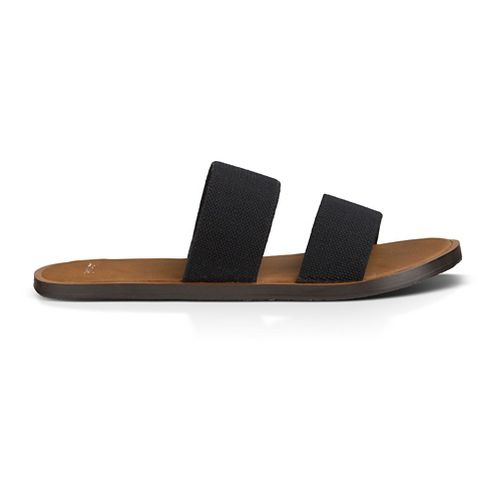 Womens Sanuk Yoga Gora Gora Sandals Shoe - Black 8