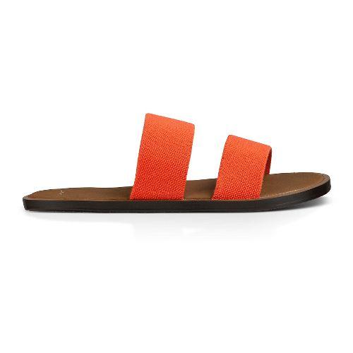 Womens Sanuk Yoga Gora Gora Sandals Shoe - Flame 10